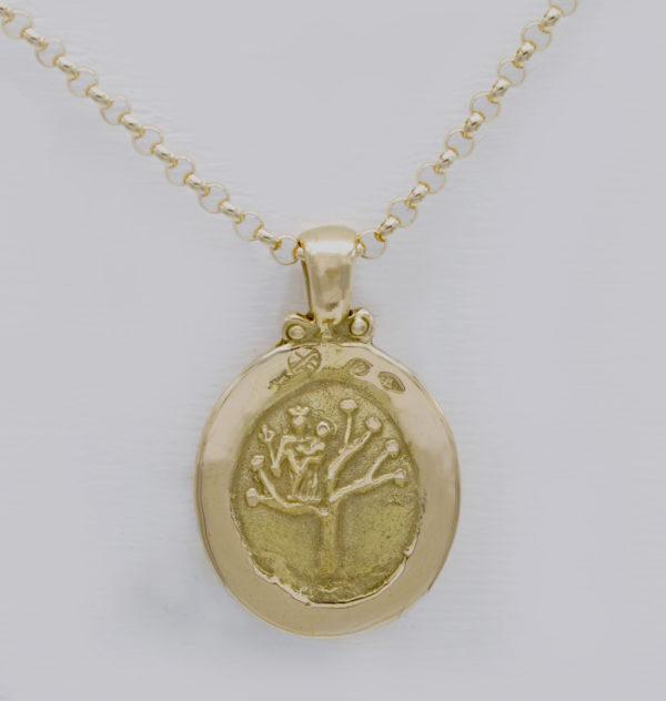 Médaille vierge arbre de vie