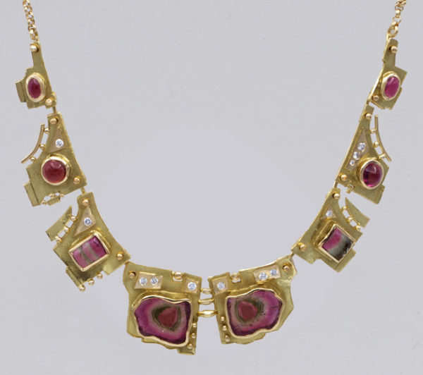 Collier tourmalines tranches