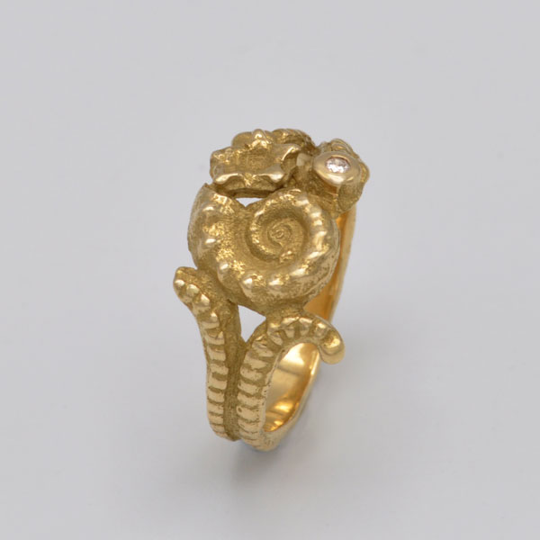 Bague coquillages