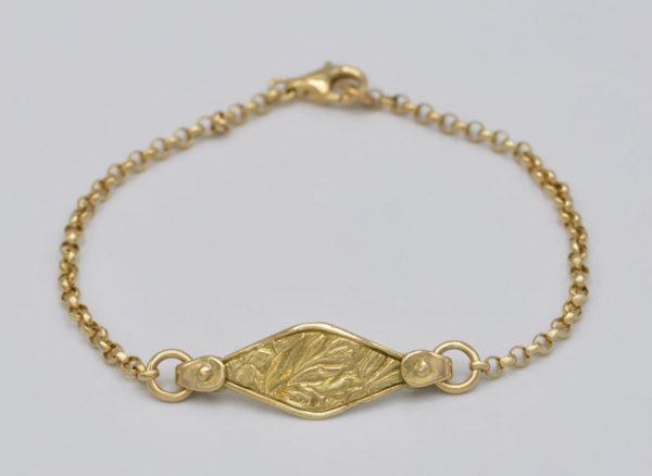 Bracelet feuillage ancolie