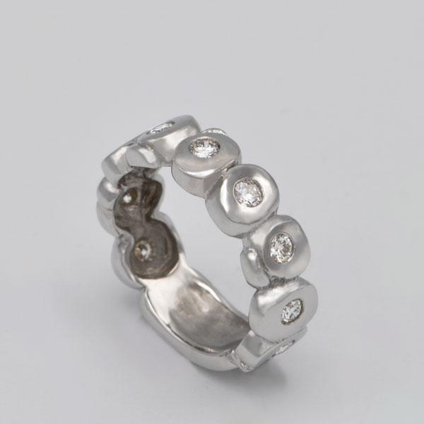 Alliance diamants or blanc Lothyrith