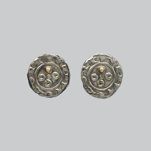 Boucles d'oreilles pièce médiévale