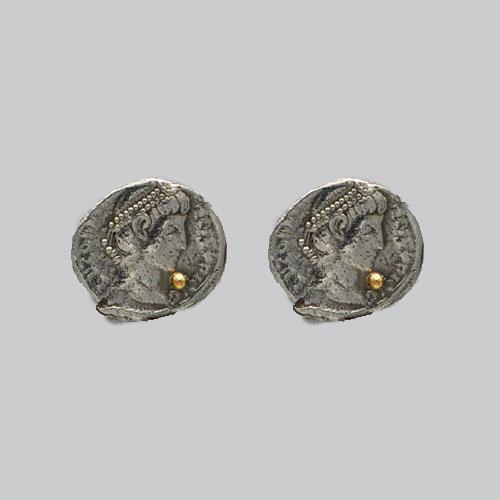 Boucles d'oreilles pièce grecque