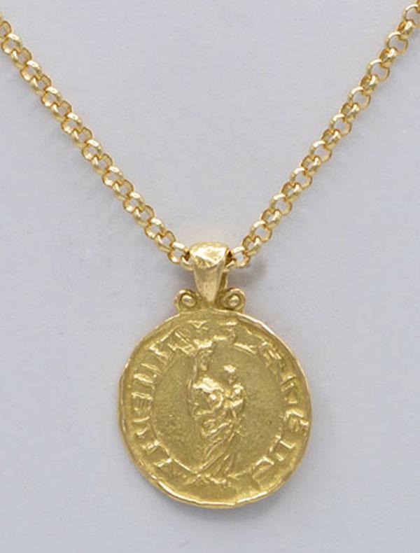 Médaille vierge drapée