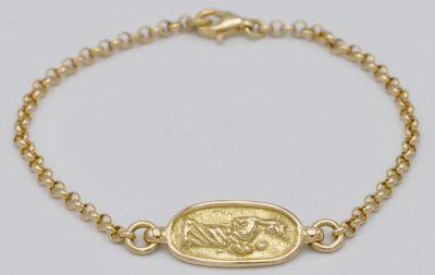 Bracelet vierge drapée