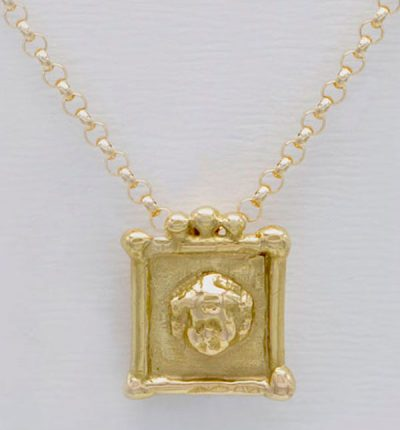 Médaille putto ange