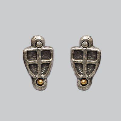 Boucles d'oreilles croix de Savoie