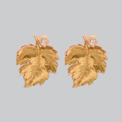 Boucles d'oreilles feuilles de vigne