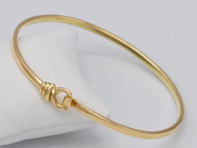 Bracelet jonc nœud marin