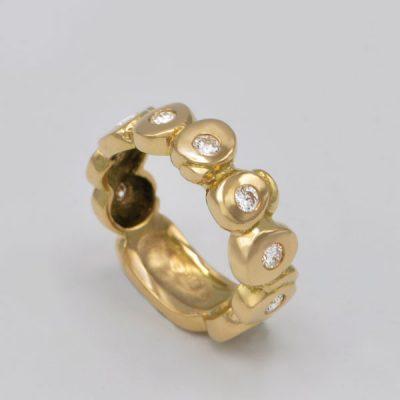 Alliance diamants or jaune Lothyrith