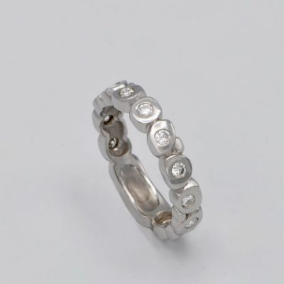 Alliance Oliclya diamants or blanc 18K